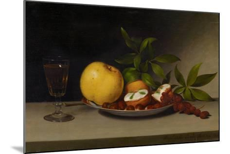 Still Life with Fruit, Cakes and Wine, 1821-Raphaelle Peale-Mounted Giclee Print
