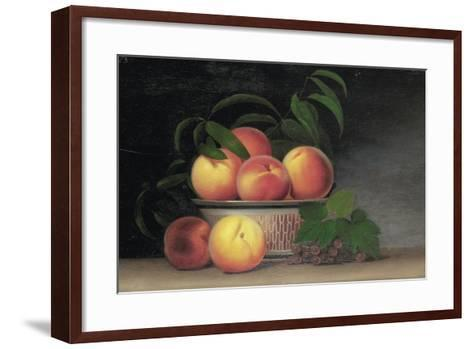 Still-Life with Peaches, C.1816-Raphaelle Peale-Framed Art Print