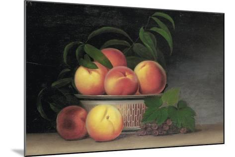 Still-Life with Peaches, C.1816-Raphaelle Peale-Mounted Giclee Print