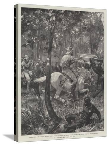 The Matabili and Mashona Revolt-Richard Caton Woodville II-Stretched Canvas Print
