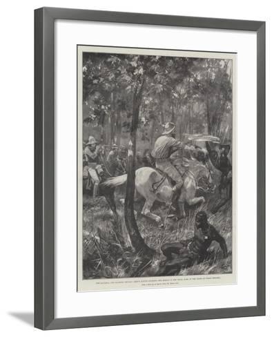 The Matabili and Mashona Revolt-Richard Caton Woodville II-Framed Art Print