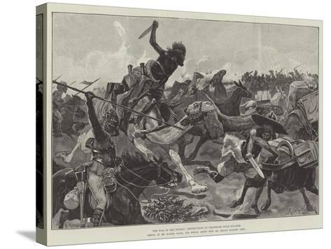 The War in the Soudan, Destruction of Transport Near Souakim-Richard Caton Woodville II-Stretched Canvas Print