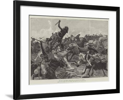 The War in the Soudan, Destruction of Transport Near Souakim-Richard Caton Woodville II-Framed Art Print