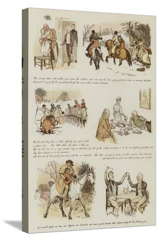 The Curmudgeons' Christmas-Randolph Caldecott-Stretched Canvas Print