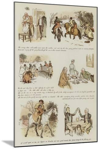 The Curmudgeons' Christmas-Randolph Caldecott-Mounted Giclee Print
