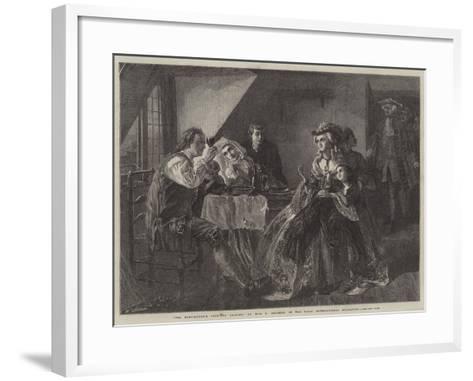 Peg Woffington's Visit to Triplet-Rebecca Solomon-Framed Art Print