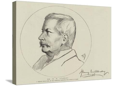 Mr H M Stanley-Reginald Barratt-Stretched Canvas Print