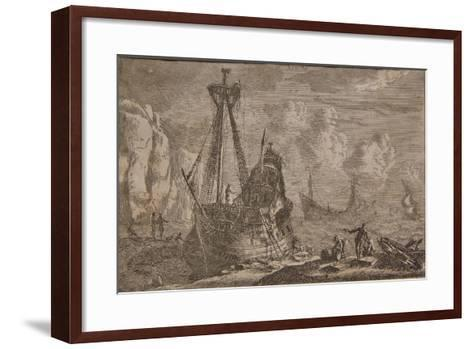 A Ship Being Repaired, from the Series 'Some Ships', 1652-Reinier Zeeman-Framed Art Print