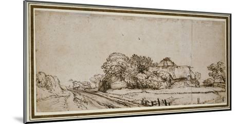 Farm Buildings Beside a Road-Rembrandt van Rijn-Mounted Giclee Print