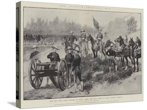 The Spanish-American War-Richard Caton Woodville II-Stretched Canvas Print