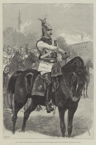 Prince Henry of Battenberg, in the Uniform of the Garde-Du-Corps of the Prussian Household Cavalry-Richard Caton Woodville II-Stretched Canvas Print