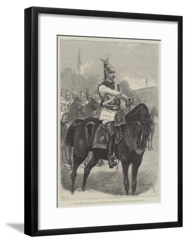 Prince Henry of Battenberg, in the Uniform of the Garde-Du-Corps of the Prussian Household Cavalry-Richard Caton Woodville II-Framed Art Print