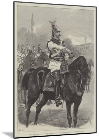 Prince Henry of Battenberg, in the Uniform of the Garde-Du-Corps of the Prussian Household Cavalry-Richard Caton Woodville II-Mounted Giclee Print