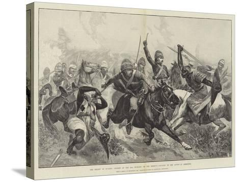 The Relief of Suakin, Charge of the 20th Hussars on the Enemy's Cavalry in the Action at Gemeizeh-Richard Caton Woodville II-Stretched Canvas Print