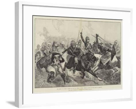 The Relief of Suakin, Charge of the 20th Hussars on the Enemy's Cavalry in the Action at Gemeizeh-Richard Caton Woodville II-Framed Art Print