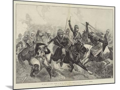 The Relief of Suakin, Charge of the 20th Hussars on the Enemy's Cavalry in the Action at Gemeizeh-Richard Caton Woodville II-Mounted Giclee Print