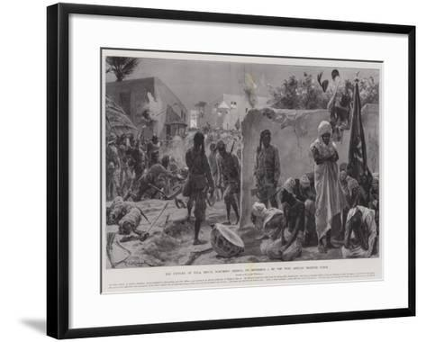 The Capture of Yola, Benue, Northern Nigeria, on 2 September, by the West African Frontier Force-Richard Caton Woodville II-Framed Art Print