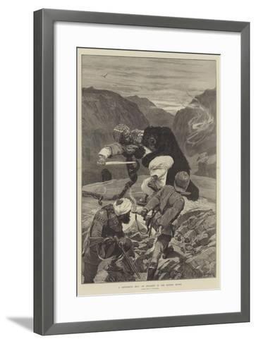 A Dangerous Hug, an Incident in the Hindoo Koosh-Richard Caton Woodville II-Framed Art Print