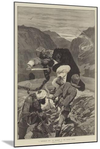 A Dangerous Hug, an Incident in the Hindoo Koosh-Richard Caton Woodville II-Mounted Giclee Print