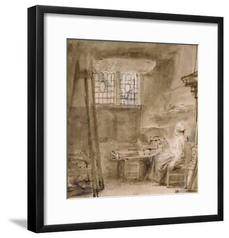 The Artist's Studio-Rembrandt van Rijn-Framed Art Print