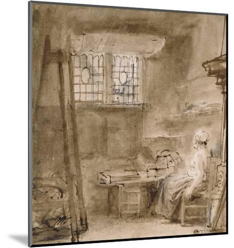 The Artist's Studio-Rembrandt van Rijn-Mounted Giclee Print