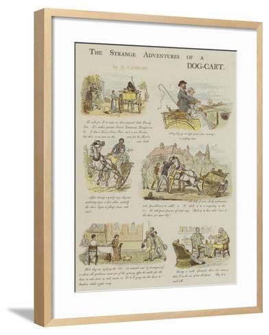 The Strange Adventures of a Dog-Cart-Randolph Caldecott-Framed Art Print