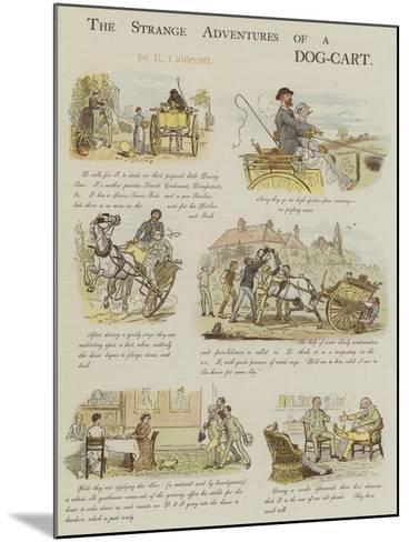 The Strange Adventures of a Dog-Cart-Randolph Caldecott-Mounted Giclee Print