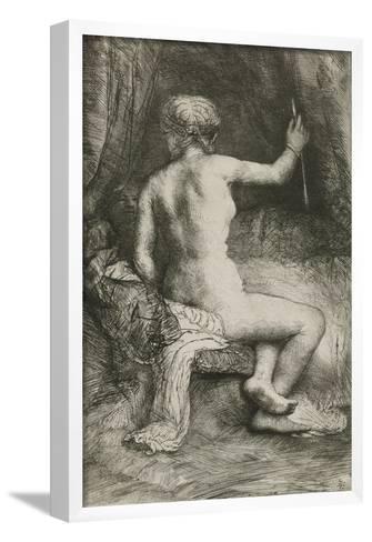The Woman with the Arrow, 1661-Rembrandt van Rijn-Framed Art Print