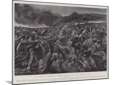 The Engagement at Vlakfontein, the Derbyshires Retaking the Guns at the Point of the Bayonet-Richard Caton Woodville II-Mounted Giclee Print