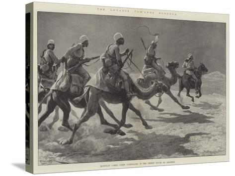The Advance Towards Dongola, Egyptian Camel Corps Patrolling in the Desert South of Akasheh-Richard Caton Woodville II-Stretched Canvas Print