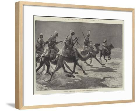The Advance Towards Dongola, Egyptian Camel Corps Patrolling in the Desert South of Akasheh-Richard Caton Woodville II-Framed Art Print