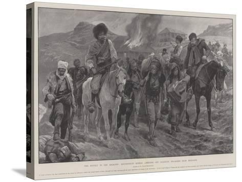 The Revolt in the Balkans, Macedonian Rebels Carrying Off Albanian Villagers Near Monastir-Richard Caton Woodville II-Stretched Canvas Print