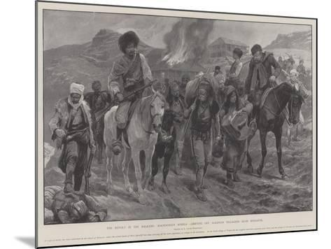 The Revolt in the Balkans, Macedonian Rebels Carrying Off Albanian Villagers Near Monastir-Richard Caton Woodville II-Mounted Giclee Print