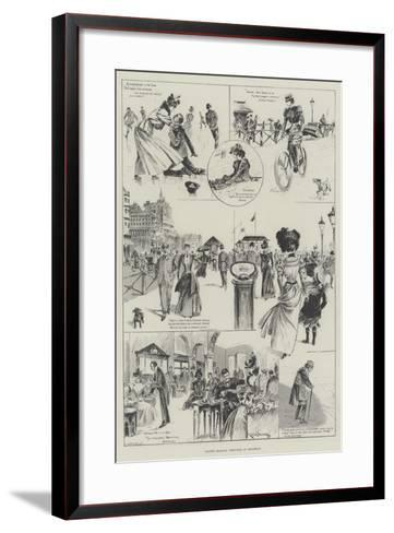 Easter Holiday Sketches at Brighton-Ralph Cleaver-Framed Art Print