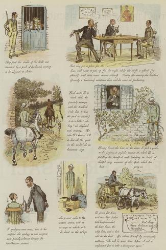 The Strange Adventures of a Dog-Cart-Randolph Caldecott-Stretched Canvas Print