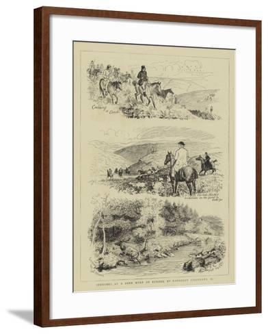 Sketches at a Deer Hunt on Exmoor-Randolph Caldecott-Framed Art Print