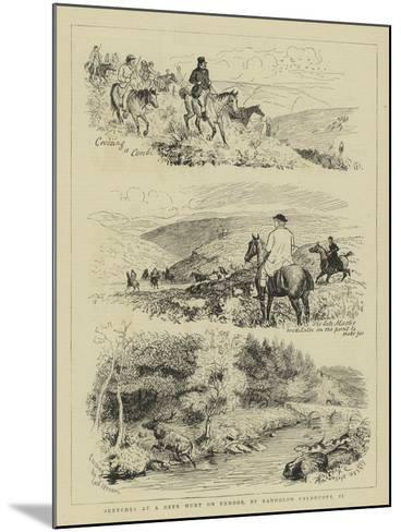 Sketches at a Deer Hunt on Exmoor-Randolph Caldecott-Mounted Giclee Print