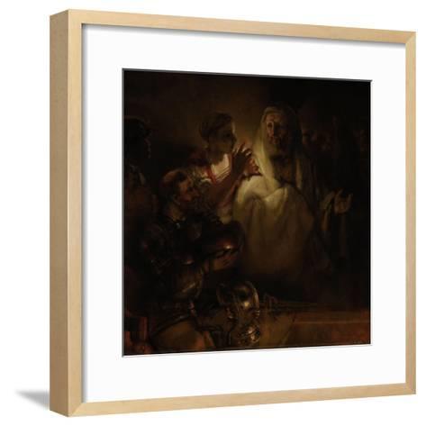 The Denial of St. Peter, 1660-Rembrandt van Rijn-Framed Art Print