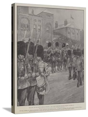 The King and His South African Veterans, the Guards Marching Past His Majesty, 27 October-Richard Caton Woodville II-Stretched Canvas Print