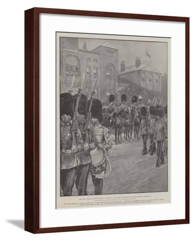 The King and His South African Veterans, the Guards Marching Past His Majesty, 27 October-Richard Caton Woodville II-Framed Art Print