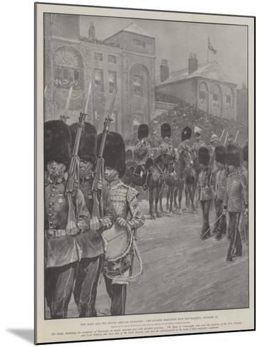 The King and His South African Veterans, the Guards Marching Past His Majesty, 27 October-Richard Caton Woodville II-Mounted Giclee Print