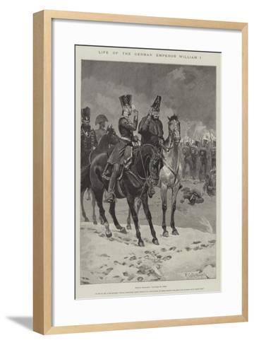 Life of the German Emperor William I-Richard Caton Woodville II-Framed Art Print
