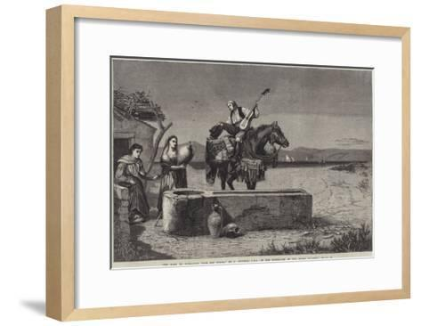 The Road to Gibraltar from San Roque-Richard Ansdell-Framed Art Print