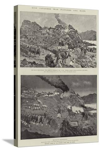 How Japanese War Pictures are Made-Richard Caton Woodville II-Stretched Canvas Print