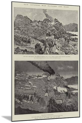 How Japanese War Pictures are Made-Richard Caton Woodville II-Mounted Giclee Print