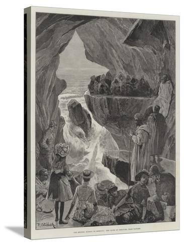 The British Mission to Morocco, the Caves of Hercules, Near Tangier-Richard Caton Woodville II-Stretched Canvas Print