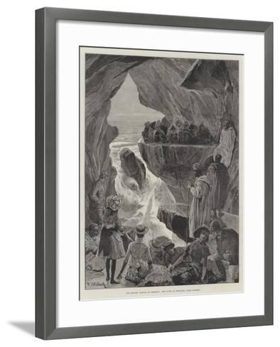 The British Mission to Morocco, the Caves of Hercules, Near Tangier-Richard Caton Woodville II-Framed Art Print