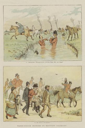 Water-Colour Sketches-Randolph Caldecott-Stretched Canvas Print