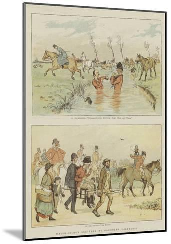 Water-Colour Sketches-Randolph Caldecott-Mounted Giclee Print