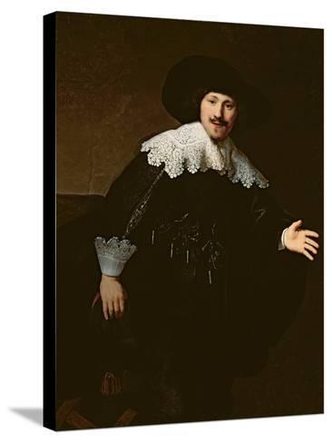 Portrait of a Seated Man Rising from His Chair, 1633-Rembrandt van Rijn-Stretched Canvas Print